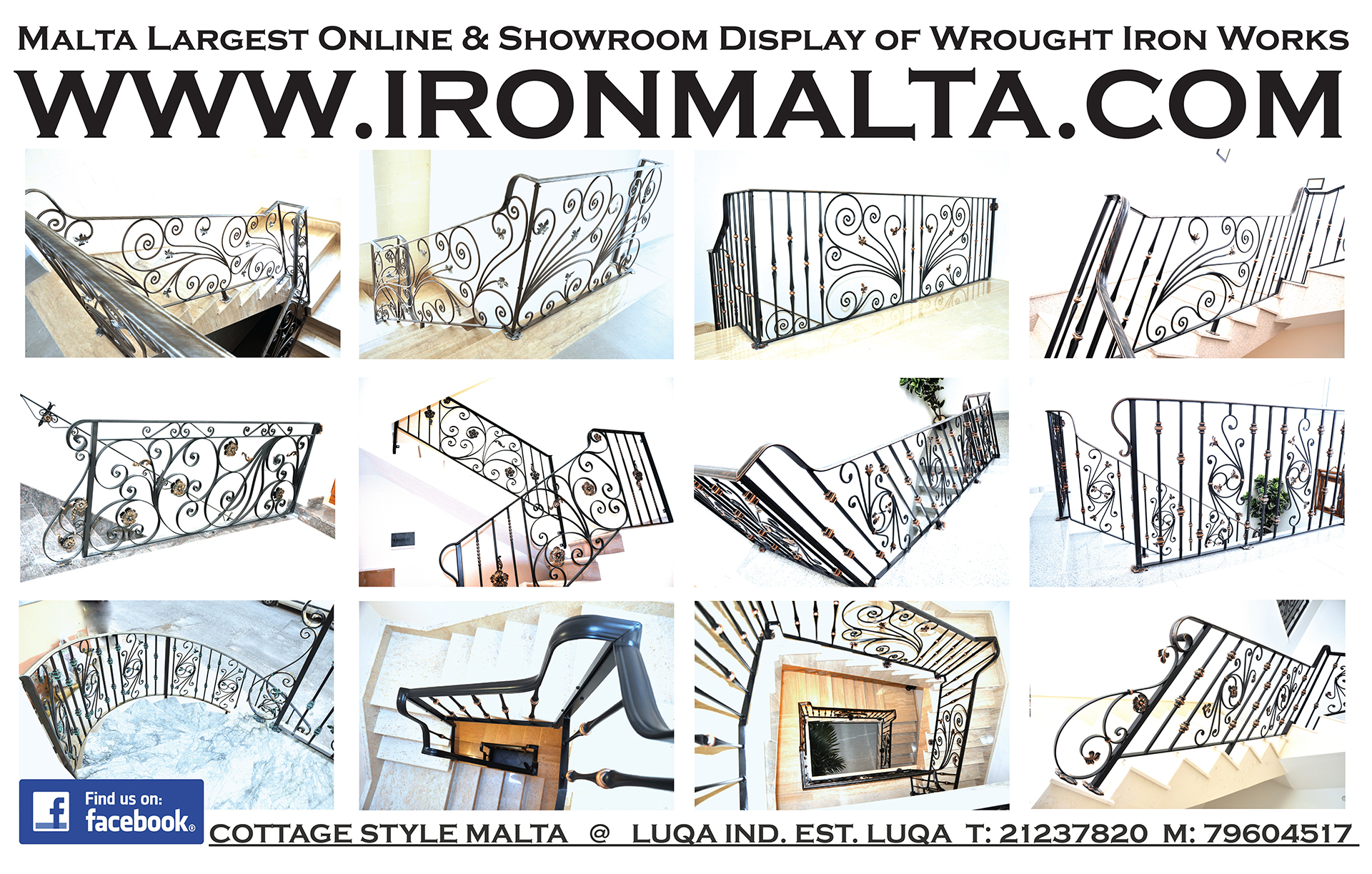 Iron Malta .com facebook Malta Largest online and Showroom Display of wrought iron works -low res Copy
