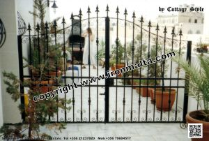 Drive In - Entry Gates - Big Gates Malta wrought iron art metal work works galvanized paint modern contemporary traditional facade white black grey color 025