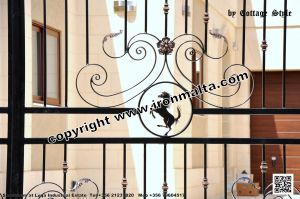 Drive In - Entry Gates - Big Gates Malta wrought iron art metal work works galvanized paint modern contemporary traditional facade white black grey color 035