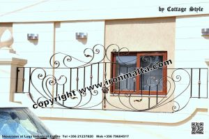 Drive In - Entry Gates - Big Gates Malta wrought iron art metal work works galvanized paint modern contemporary traditional facade white black grey color 015