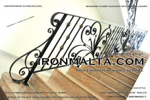 1aa2c stairs railings malta modern contemporary staircases wrought iron art metal steel works design.JPG