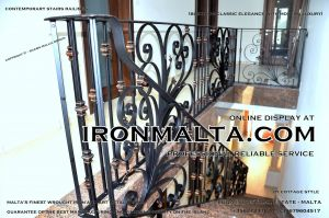 1aa3 stairs railings malta modern contemporary staircases wrought iron art metal steel works design.JPG