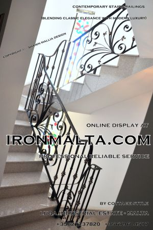 1ab3 stairs railings malta modern contemporary staircases wrought iron art metal steel works design.JPG