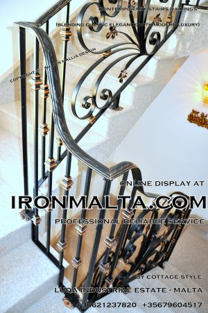 1ab4 stairs railings malta modern contemporary staircases wrought iron art metal steel works design.JPG