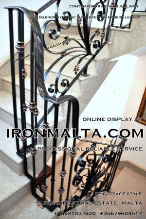 1ab4b stairs railings malta modern contemporary staircases wrought iron art metal steel works design.JPG