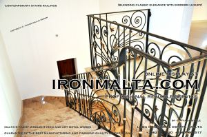 1ab6 stairs railings malta modern contemporary staircases wrought iron art metal steel works design.JPG