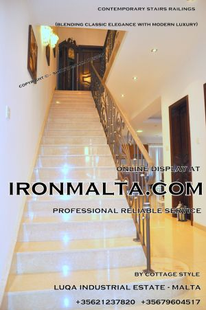1ac2a stairs railings malta modern contemporary staircases wrought iron art metal steel works desing.JPG