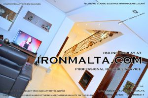 1ac3 stairs railings malta modern contemporary staircases wrought iron art metal steel works design.JPG