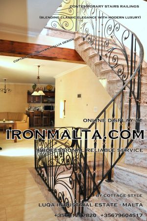 1ac7 stairs railings malta modern contemporary staircases wrought iron art metal steel works design.JPG