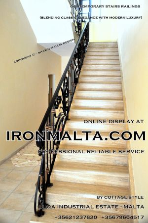 ... 1ae7a Stairs Railings Malta Modern Contemporary Staircases Wrought Iron  Art Metal Steel Works Design C14 ...