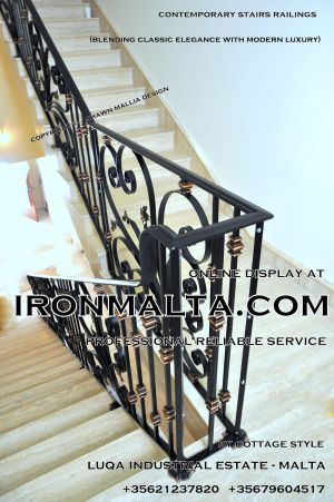 1ae8a stairs railings malta modern contemporary staircases wrought iron art metal steel works design.JPG