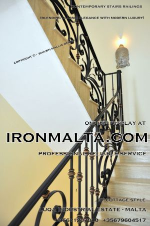 1ae8b stairs railings malta modern contemporary staircases wrought iron art metal steel works design.JPG