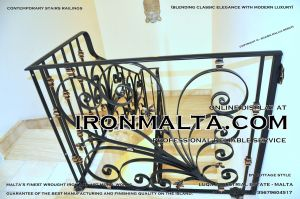 1ae9 stairs railings malta modern contemporary staircases wrought iron art metal steel works design.JPG