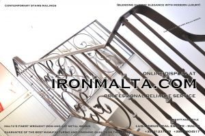 1af1g stairs railings malta modern contemporary staircases wrought iron art metal steel works design.JPG