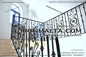 1af7b stairs railings malta modern contemporary staircases wrought iron art metal steel works design.JPG