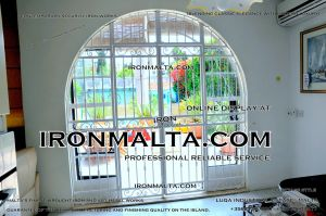 Security iron works malta home house property modern contemporary white black grey steel metal doors winows in mlata 1.JPG