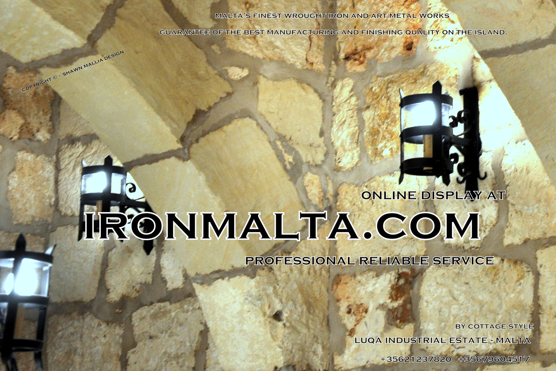 Lights – WALL Lights in Solid Wrought Iron