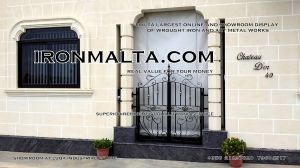 facade house names house signs solid wrought  iron sheet metal steel galvanizied classic rustic modern black white grey ironmalta.com cottage style malta a1.jpg