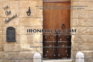 facade house names house signs solid wrought  iron sheet metal steel galvanizied classic rustic modern black white grey ironmalta.com cottage style malta c7.JPG