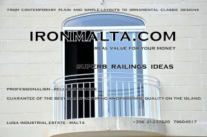 a6b wrought iron works malta  balcony balconies galvanized sprayied coated exterior design ideas modern contemporary classic plain white black grey.JPG