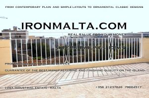 a6c wrought iron works malta  balcony balconies galvanized sprayied coated exterior design ideas modern contemporary classic plain white black grey.JPG