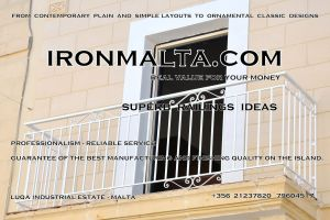 a8a wrought iron works malta  balcony balconies galvanized sprayied coated exterior design ideas modern contemporary classic plain white black grey.JPG