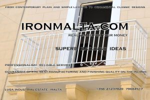 a8b wrought iron works malta  balcony balconies galvanized sprayied coated exterior design ideas modern contemporary classic plain white black grey.JPG