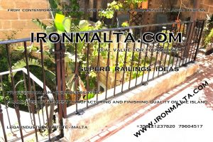 a9j wrought iron works malta  balcony balconies galvanized sprayied coated exterior design ideas modern contemporary classic plain white black grey.JPG