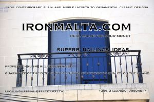 b1d wrought iron works malta  balcony balconies galvanized sprayied coated exterior design ideas modern contemporary classic plain white black grey.JPG