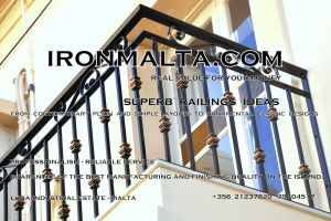 b1g wrought iron works malta  balcony balconies galvanized sprayied coated exterior design ideas modern contemporary classic plain white black grey.JPG