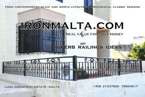 b2a wrought iron works malta  balcony balconies galvanized sprayied coated exterior design ideas modern contemporary classic plain white black grey.JPG