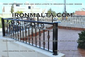 b2d wrought iron works malta  balcony balconies galvanized sprayied coated exterior design ideas modern contemporary classic plain white black grey.JPG