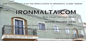 b3c railings wrought iron works malta  balcony balconies galvanized sprayied coated exterior design ideas modern contemporary classic plain white black grey.JPG