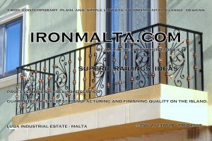 b3f wrought iron works malta  balcony balconies galvanized sprayied coated exterior design ideas modern contemporary classic plain white black grey.JPG