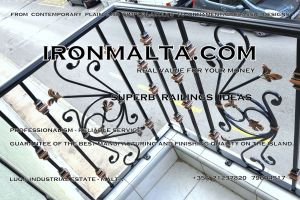 b3g wrought iron works malta  balcony balconies galvanized sprayied coated exterior design ideas modern contemporary classic plain white black grey.JPG