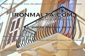 b4a wrought iron works malta  balcony balconies galvanized sprayied coated exterior design ideas modern contemporary classic plain white black grey.JPG