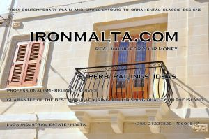 b4b wrought iron works malta  balcony balconies galvanized sprayied coated exterior design ideas modern contemporary classic plain white black grey.JPG