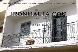 b4e wrought iron works malta  balcony balconies galvanized sprayied coated exterior design ideas modern contemporary classic plain white black grey.JPG