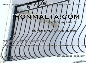b4f wrought iron works malta  balcony balconies galvanized sprayied coated exterior design ideas modern contemporary classic plain white black grey.JPG
