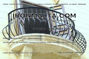 b5a wrought iron works malta  balcony balconies galvanized sprayied coated exterior design ideas modern contemporary classic plain white black grey.JPG
