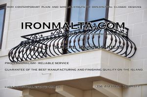 b6b wrought iron works malta  balcony balconies galvanized sprayied coated exterior design ideas modern contemporary classic plain white black grey.jpg