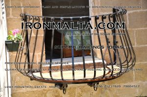 b7b wrought iron works malta  balcony balconies galvanized sprayied coated exterior design ideas modern contemporary classic plain white black grey.JPG