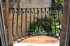b7c wrought iron works malta  balcony balconies galvanized sprayied coated exterior design ideas modern contemporary classic plain white black grey.JPG