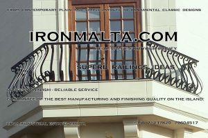 b7g wrought iron works malta  balcony balconies galvanized sprayied coated exterior design ideas modern contemporary classic plain white black grey.jpg