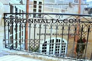 c1a railings wrought iron works malta  balcony balconies galvanized sprayied coated exterior design ideas modern contemporary classic plain white black grey.JPG
