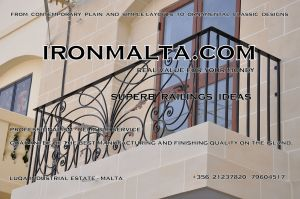 c2b wrought iron works malta  balcony balconies galvanized sprayied coated exterior design ideas modern contemporary classic plain white black grey.JPG