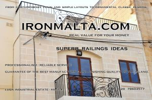 c2c railings wrought iron works malta  balcony balconies galvanized sprayied coated exterior design ideas modern contemporary classic plain white black grey.JPG