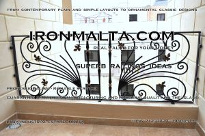 c3a railings wrought iron works malta  balcony balconies galvanized sprayied coated exterior design ideas modern contemporary classic plain white black grey.JPG