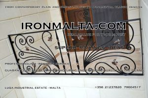 c3b wrought iron works malta  balcony balconies galvanized sprayied coated exterior design ideas modern contemporary classic plain white black grey.JPG