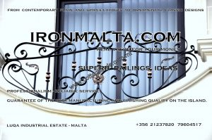 d1b wrought iron works malta  balcony balconies galvanized sprayied coated exterior design ideas modern contemporary classic plain white black grey.JPG